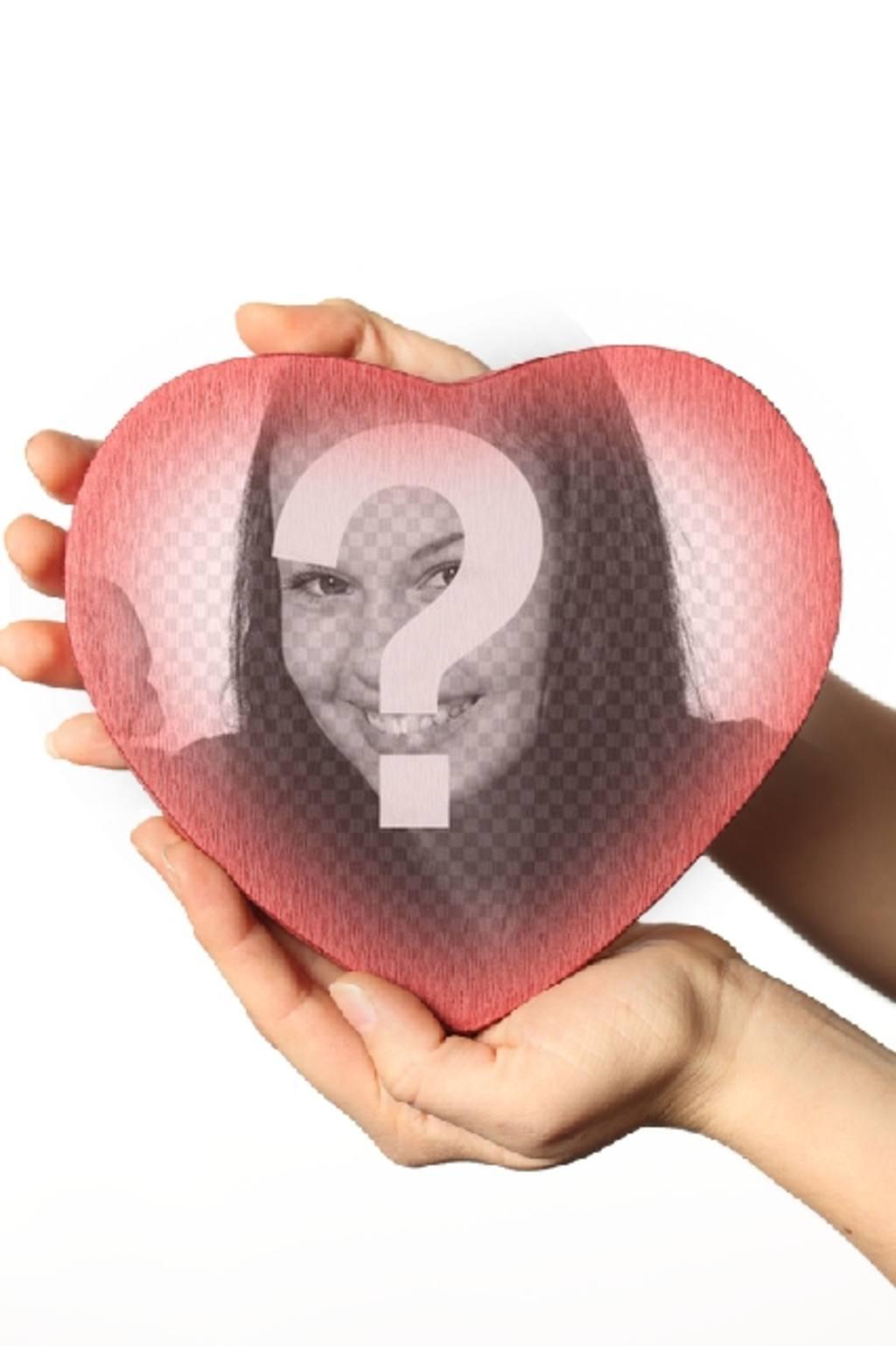 """Mettere una foto all""""interno di una scatola a forma di cuore rosso con questo effetto"""