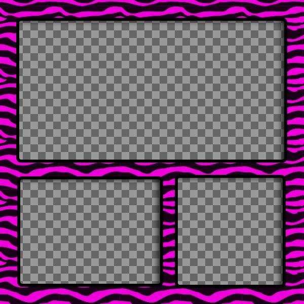 Cornice Per Foto Con Nero Strisce Rosa Zebra Come Per Fare