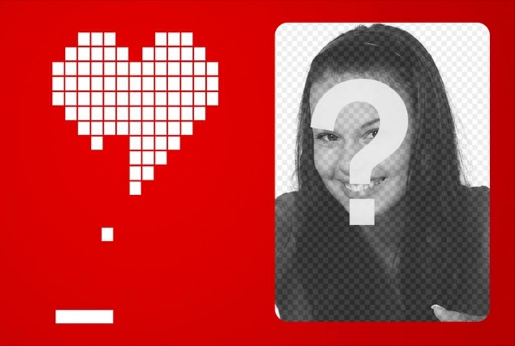 Amore Cornice Digitale Con Un Cuore Bianco Fatto Con Sfondo Rosso