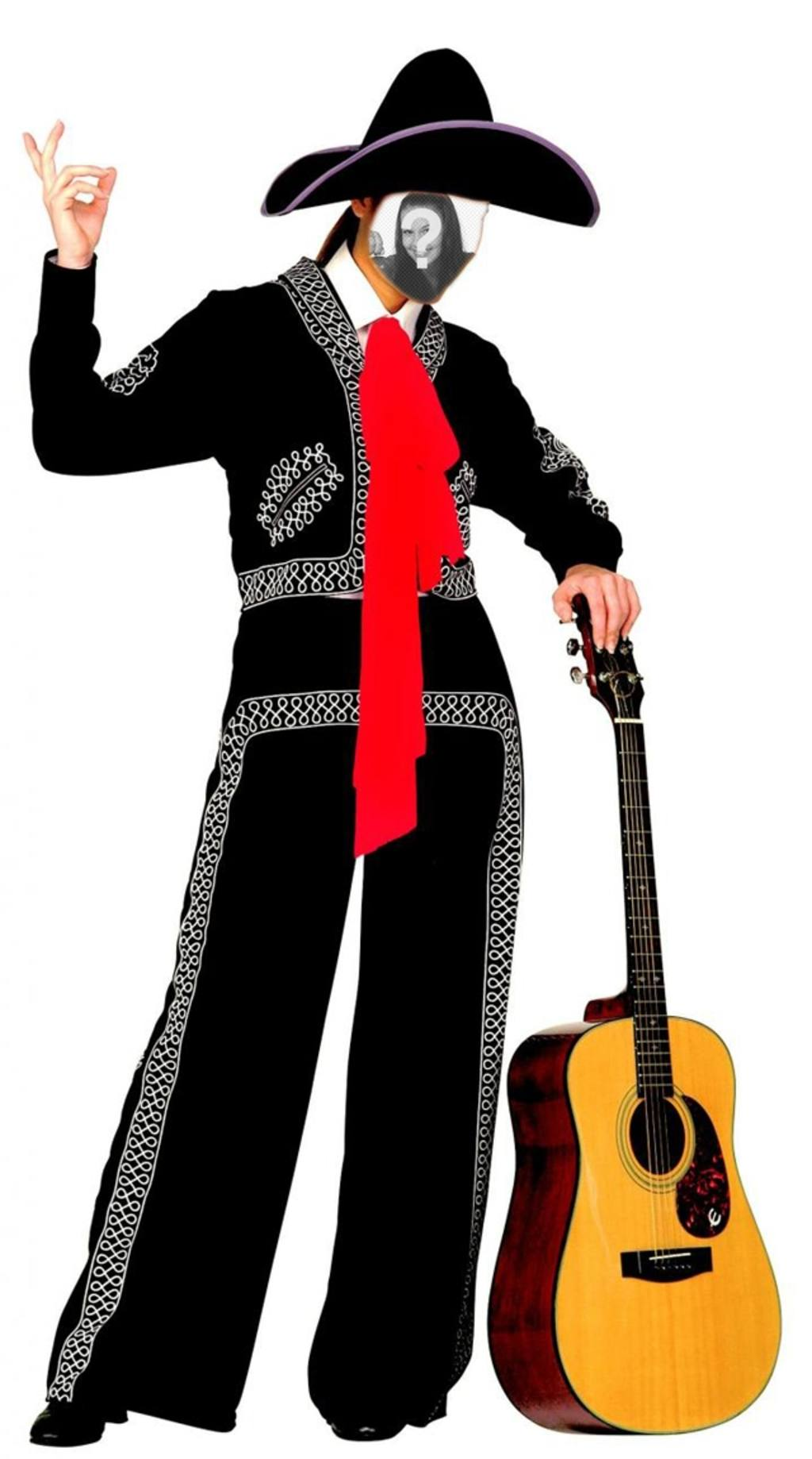 Vestirsi come un mariachi con questo effetto di modificare online e gratis Fotomontaggio