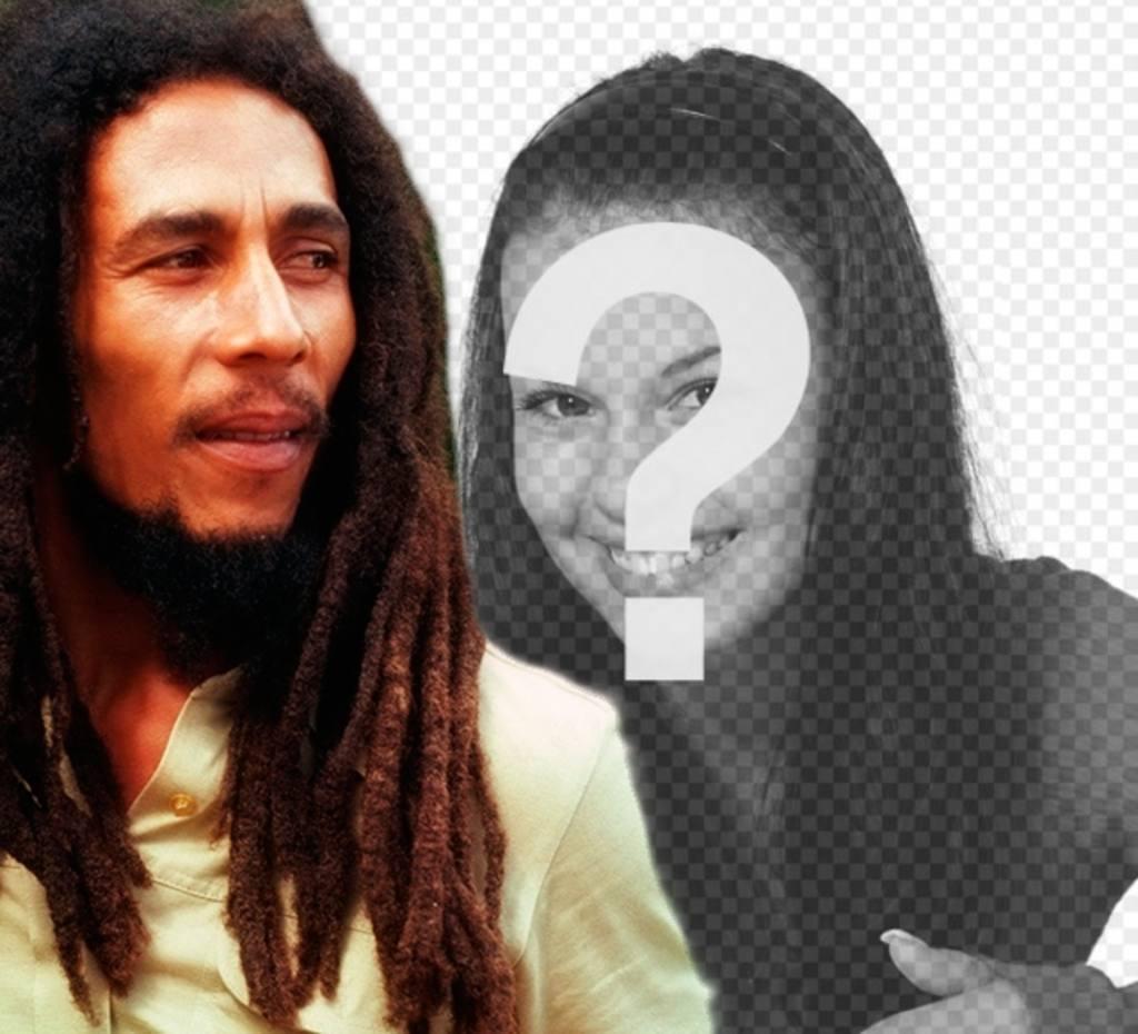 Creare un fotomontaggio con Bob Marley al tuo fianco caricamento di unimmagine in linea e laggiunta di una frase gratuito