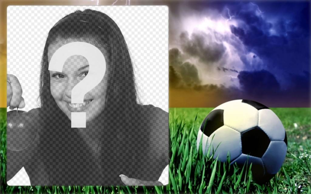Sport cornice con una foto di un pallone da calcio in erba - Pagina da colorare di un pallone da calcio ...