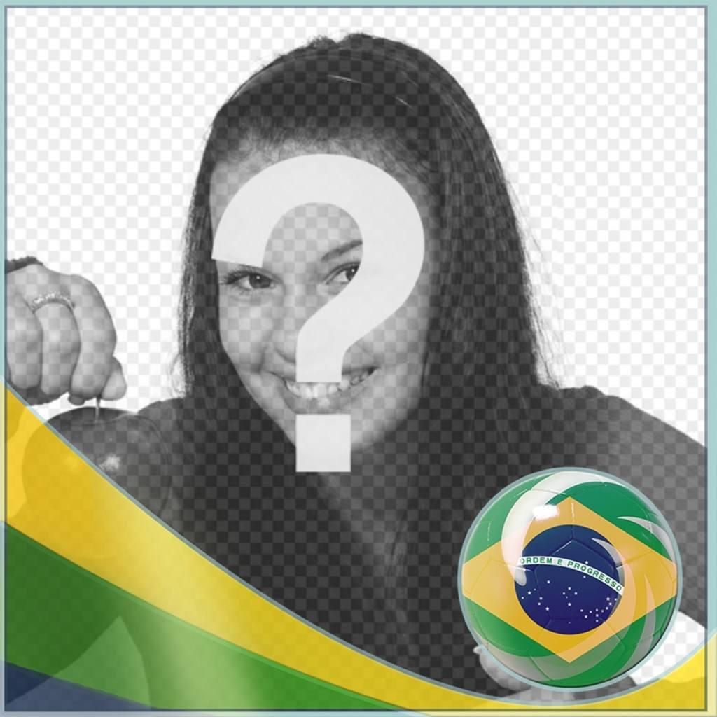 Fotomontaggio con la bandiera del Brasil per aggiungere le vostre foto di sfondo