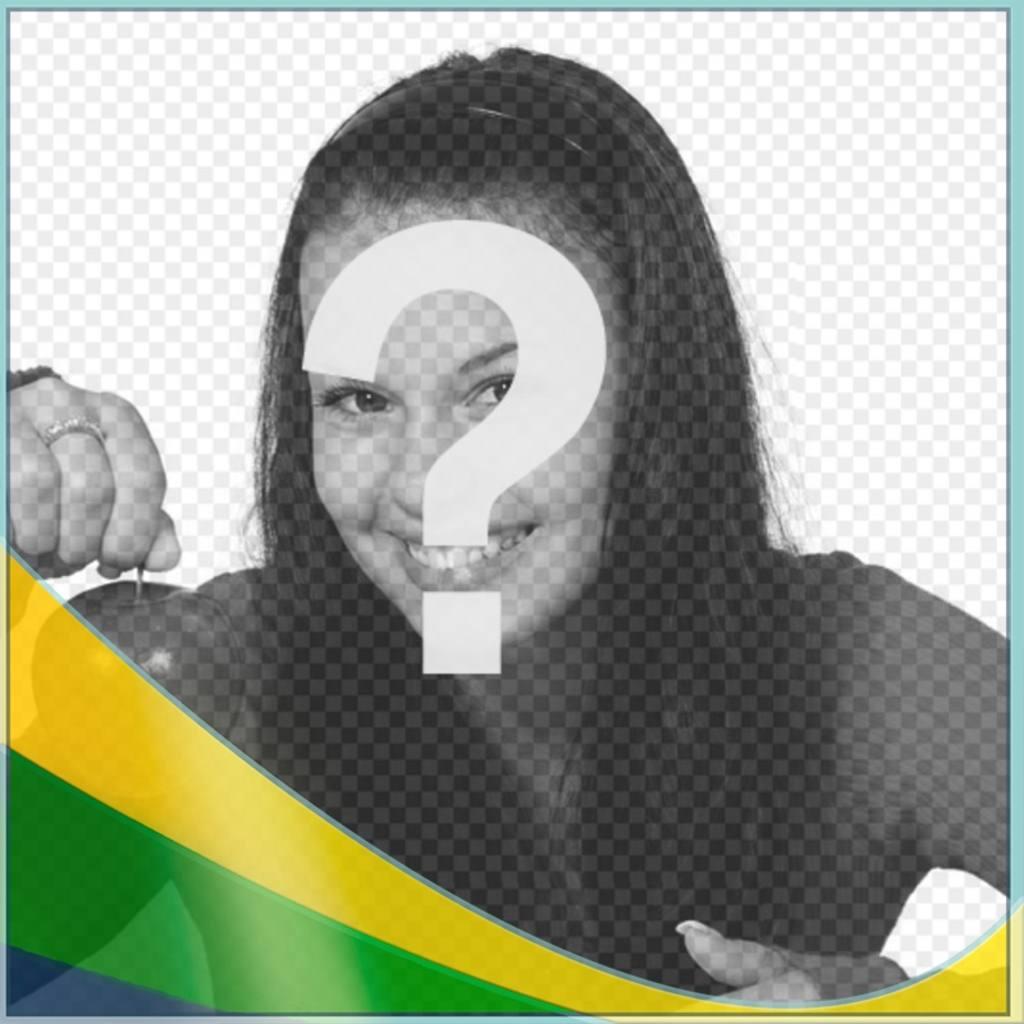 Effetto Photo per mettere i colori del Brasile falg nella foto