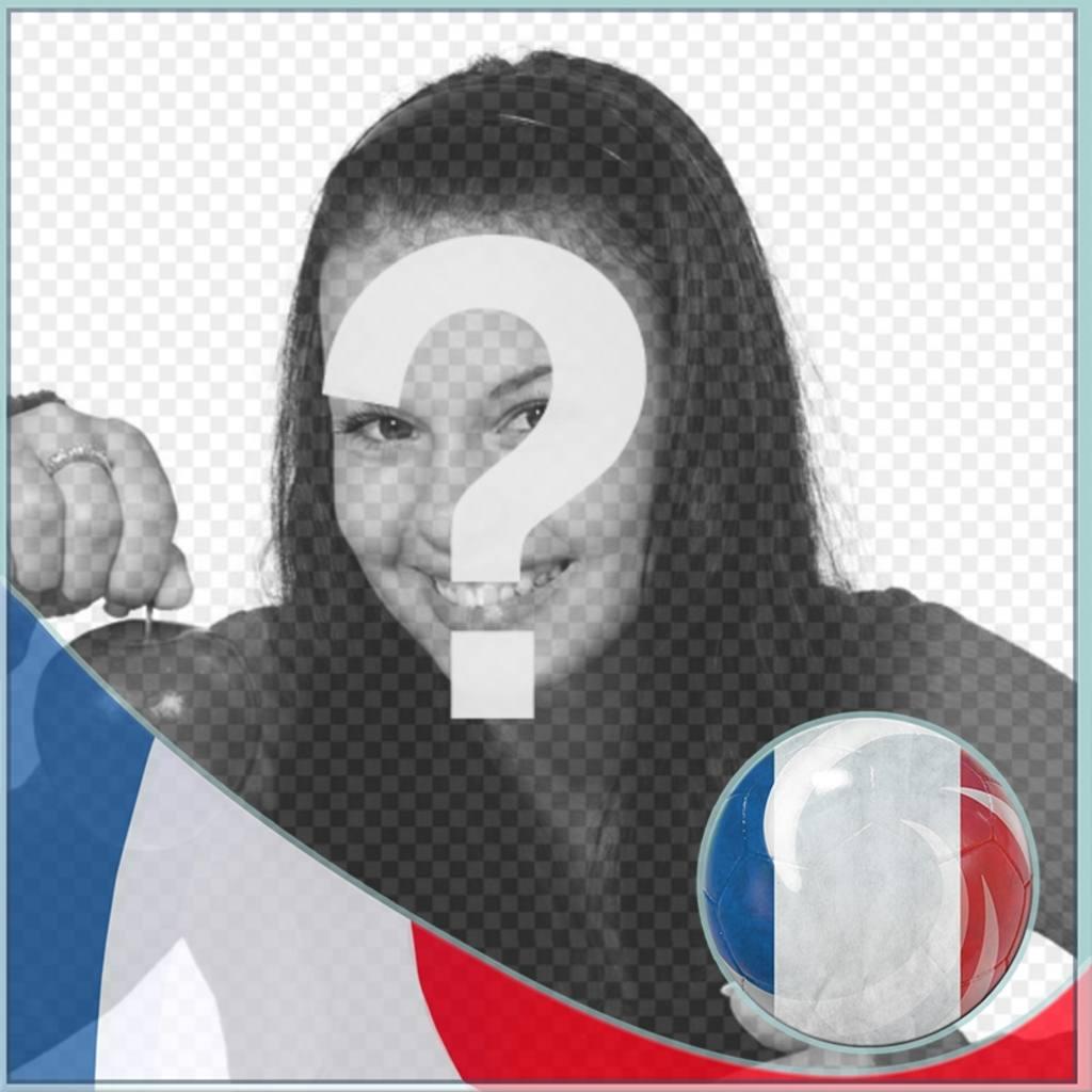 Montaggio con bandiera della Francia per mettere profilo sui social network