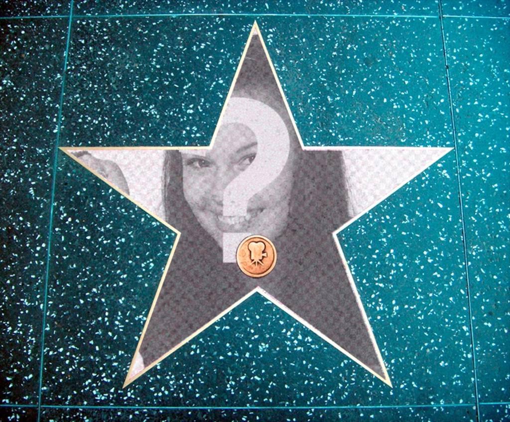 Fotomontaggio nella Walk of Fame