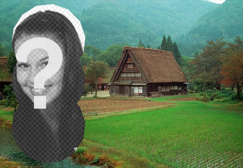 Cartolina di una casa tradizionale cinese fotoeffetti for Casa tradizionale cinese