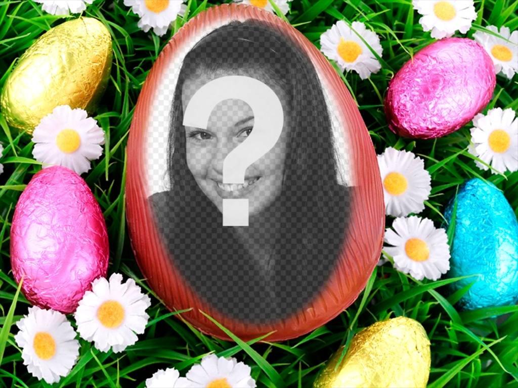 Fotomontaggio di mettere la vostra immagine allinterno di un uovo di Pasqua