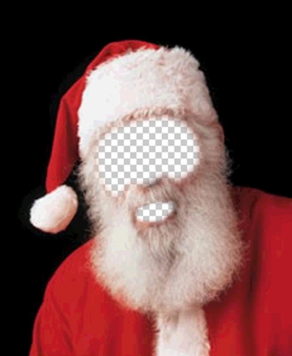 Fotomontaggio di costume di Babbo Natale per natale