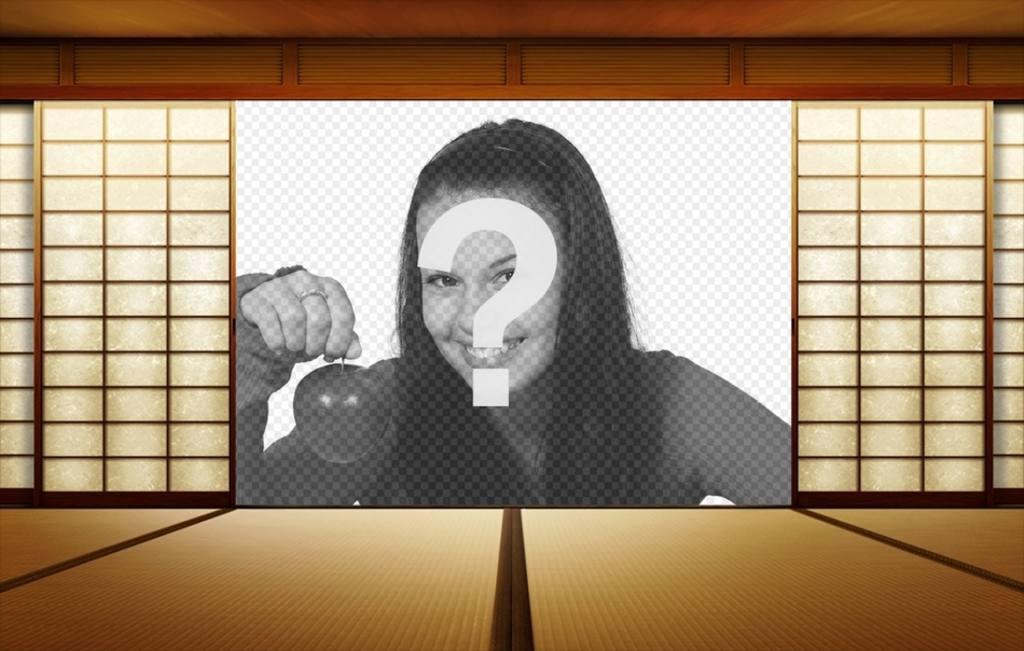 Fotomontaggio giapponese di mettere la tua foto