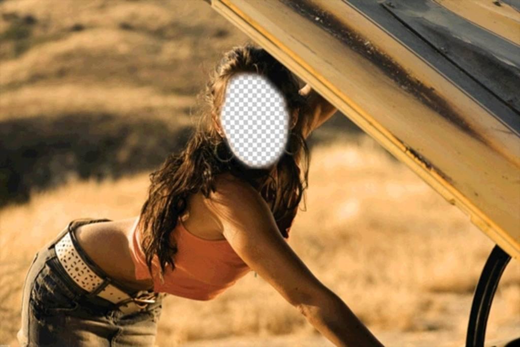Fotomontaggio di Megan Fox in una scena per aggiungere un
