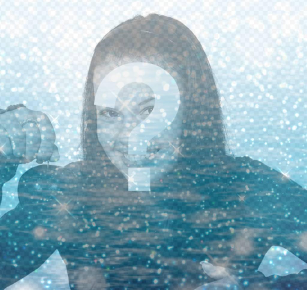 Effetto di acqua e glitter per la tua foto