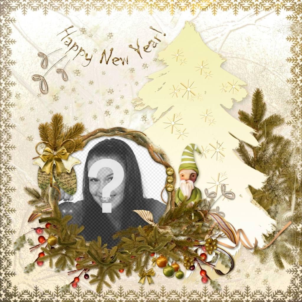 Carta Classic per modificare e il testo Felice Anno Nuovo