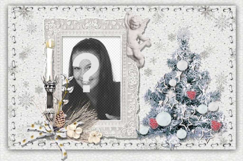 Immagini Natale Da Personalizzare.Cartolina Di Natale Da Personalizzare Con La Tua Foto Un