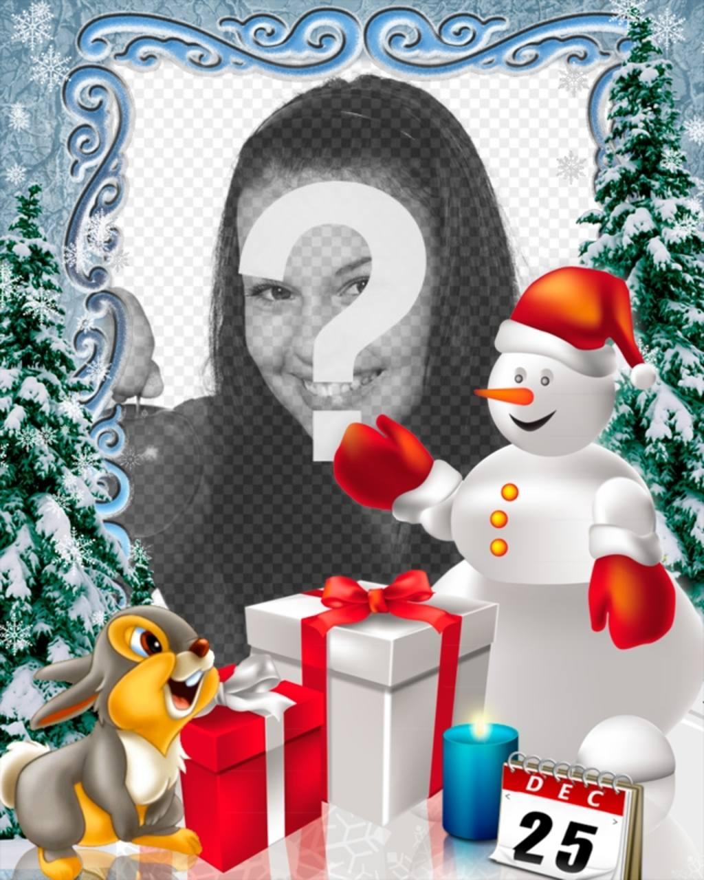 Fotomontaggio giorno di Natale da personalizzare con le foto