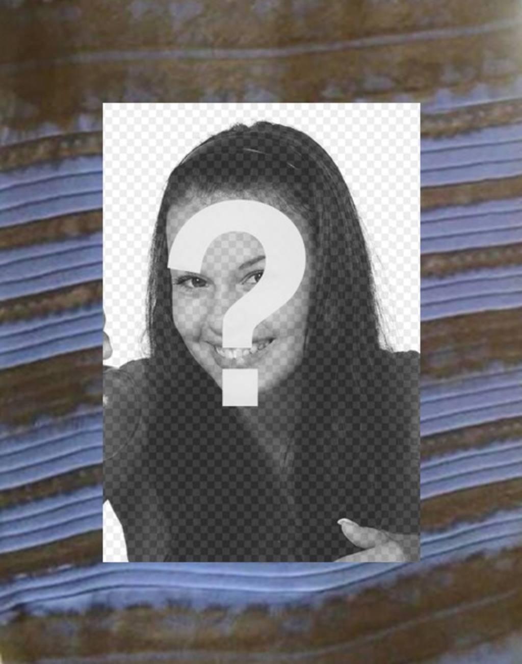 best website 4b2bf a3b8b Cornice per foto con il vestito che è possibile vedere blu e ...