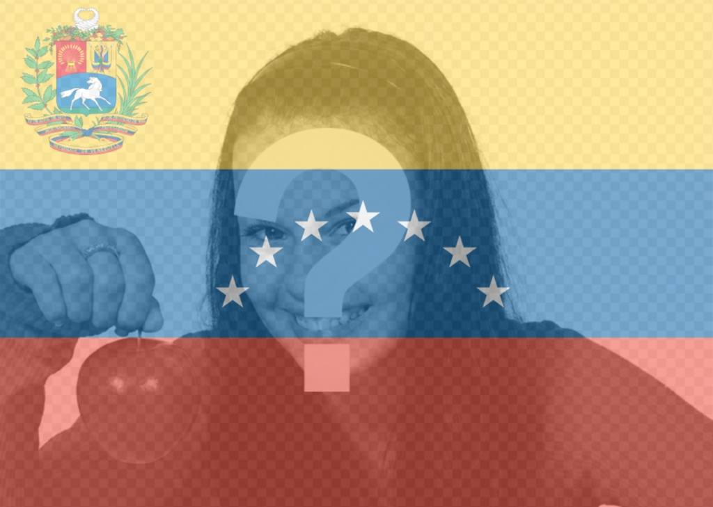 Venezuela Bandiera con 7 stelle per il vostro foto