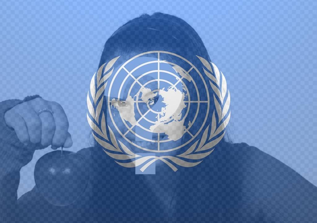 Bandiera delle Nazioni Unite per mettere su foto