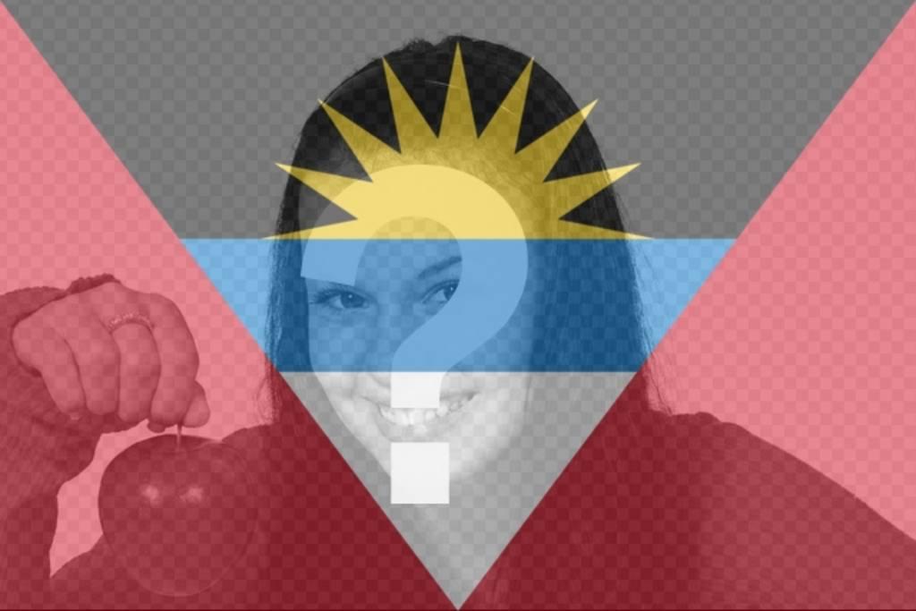 Bandiera di Antigua e Barbuda per mettere la tua foto sui social network