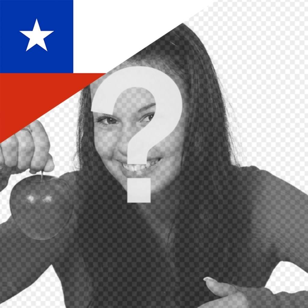 Chile flag in un angolo della vostra immagine del profilo