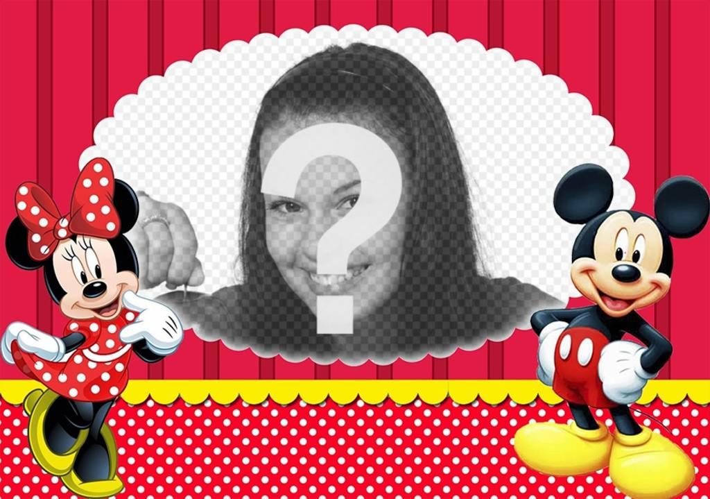 Effetto foto con Topolino e Minnie per caricare la vostra foto preferita