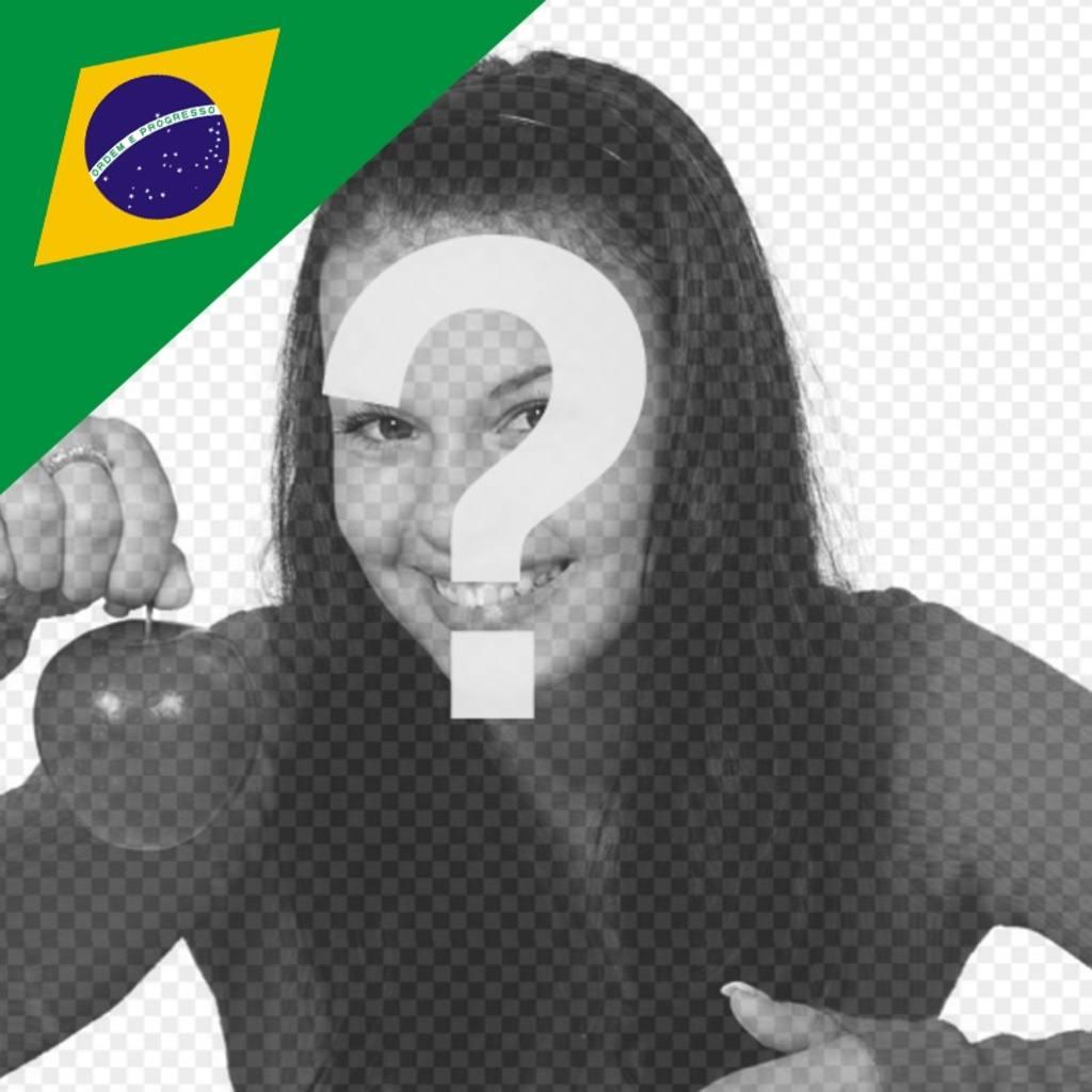 Aggiungere nelle foto la bandiera brasiliana in un angolo