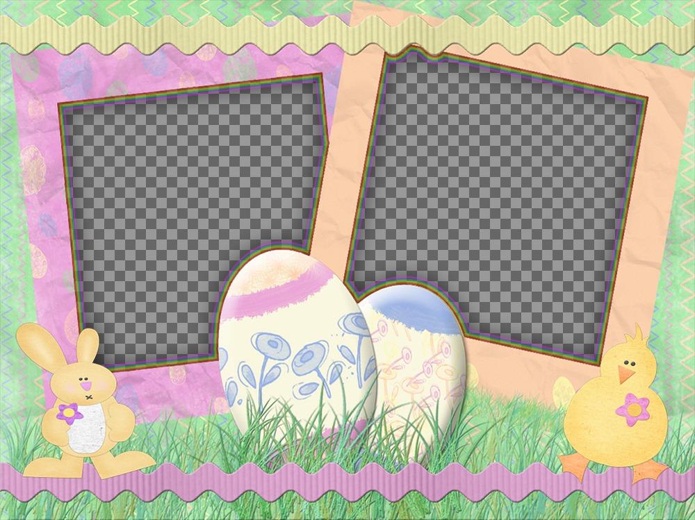 Collage per celebrare la Pasqua con le tue foto decorate