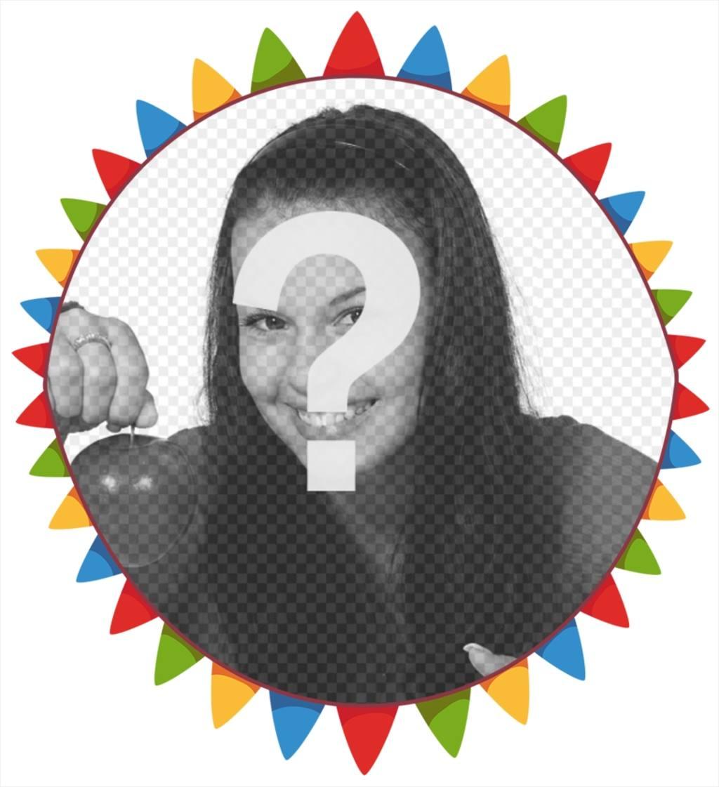 Cornice colorata libero per la vostra foto con bandierine di partito