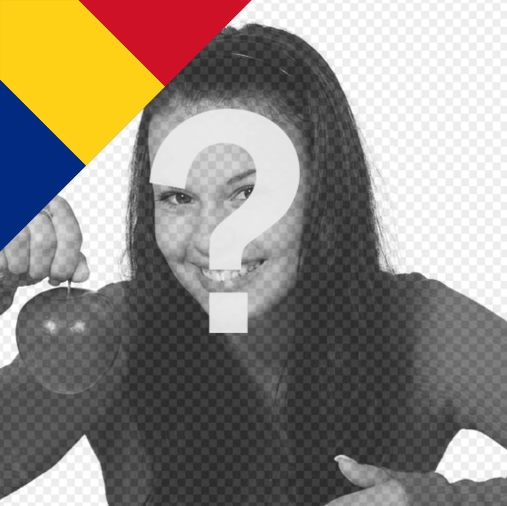 Romania flag per mettere in un angolo della foto di