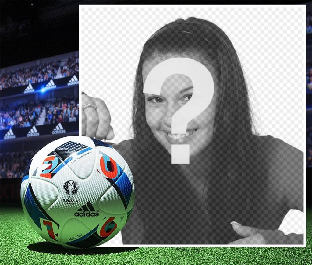 Frame per il foto con il pallone da calcio ufficiale della for Frame per foto