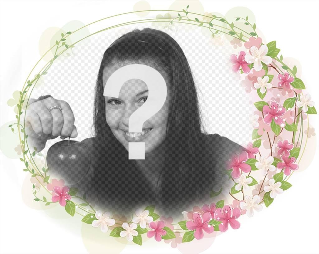 Frame per aggiungere alle foto bei fiori intorno ad esso e for Frame per foto