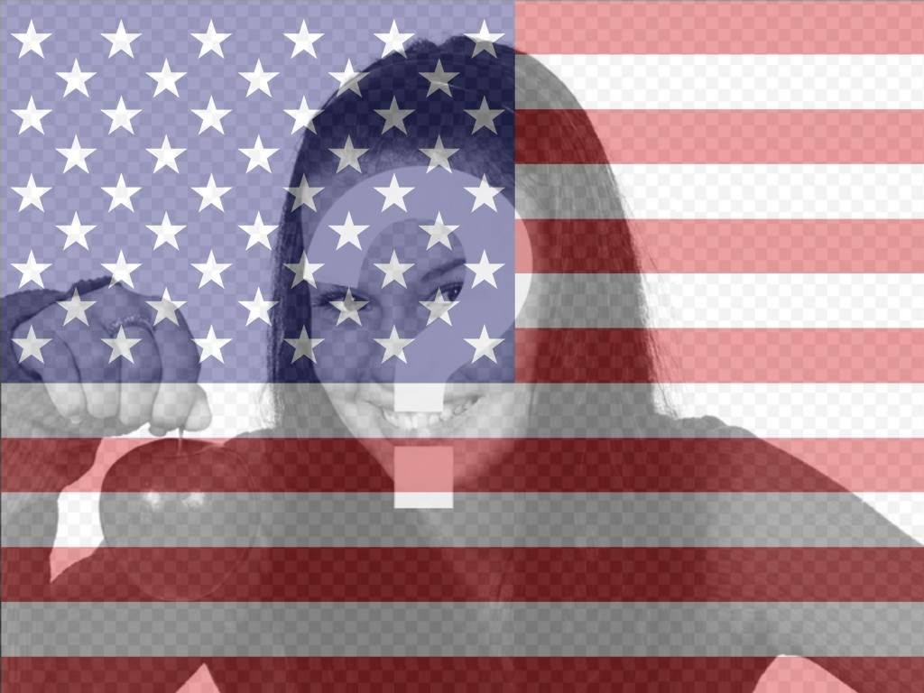 Filtro in linea di bandiera degli Stati Uniti per aggiungere le vostre foto