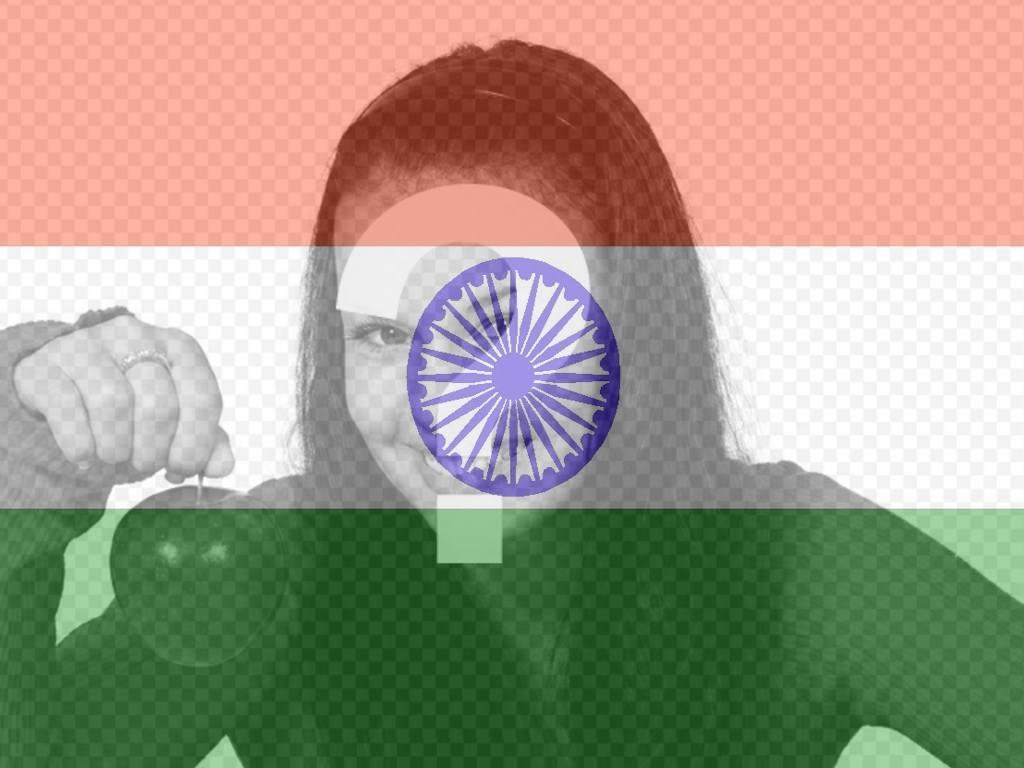 Bandiera dellIndia da inserire nella tua foto come filtro
