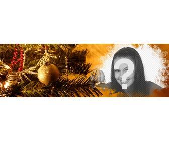 Immagini Di Copertina Di Natale.Facebook Foto Di Copertina Con Decorazioni Natalizie Fotoeffetti