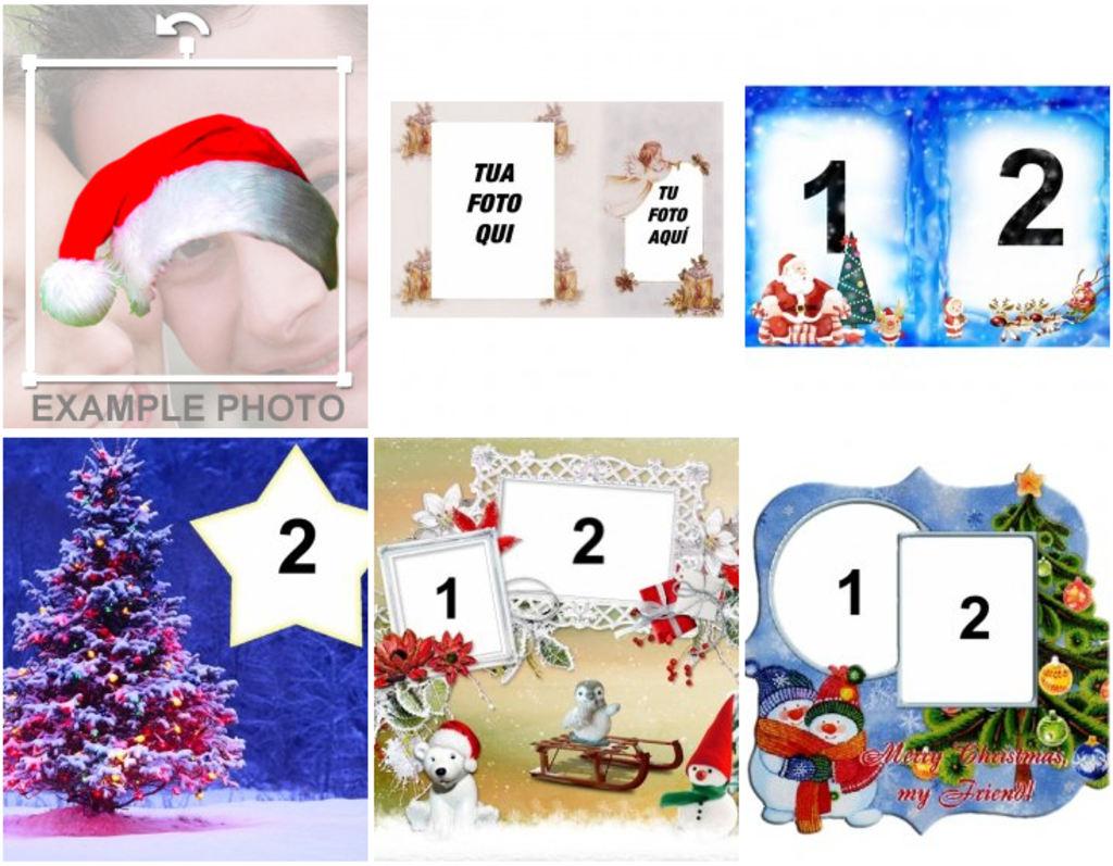 Foto Collage Di Natale.Collage Di Natale Personalizzato Con Le Vostre Foto Fotoeffetti
