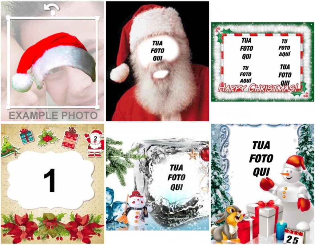 Sfondi Natalizi Per Bambini.Fotomontaggi E Cornici Per Natale Fotoeffetti