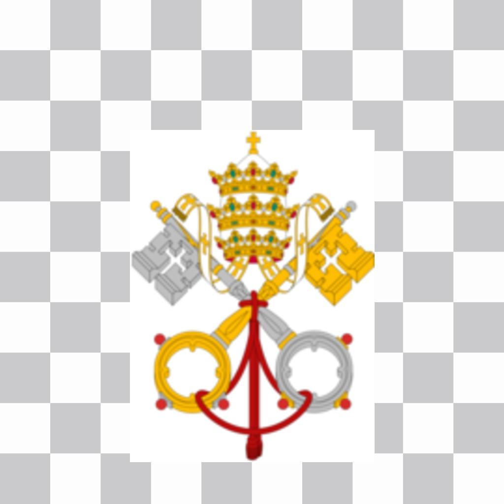 Bandiera della Città del Vaticano si può mettere nelle tue foto
