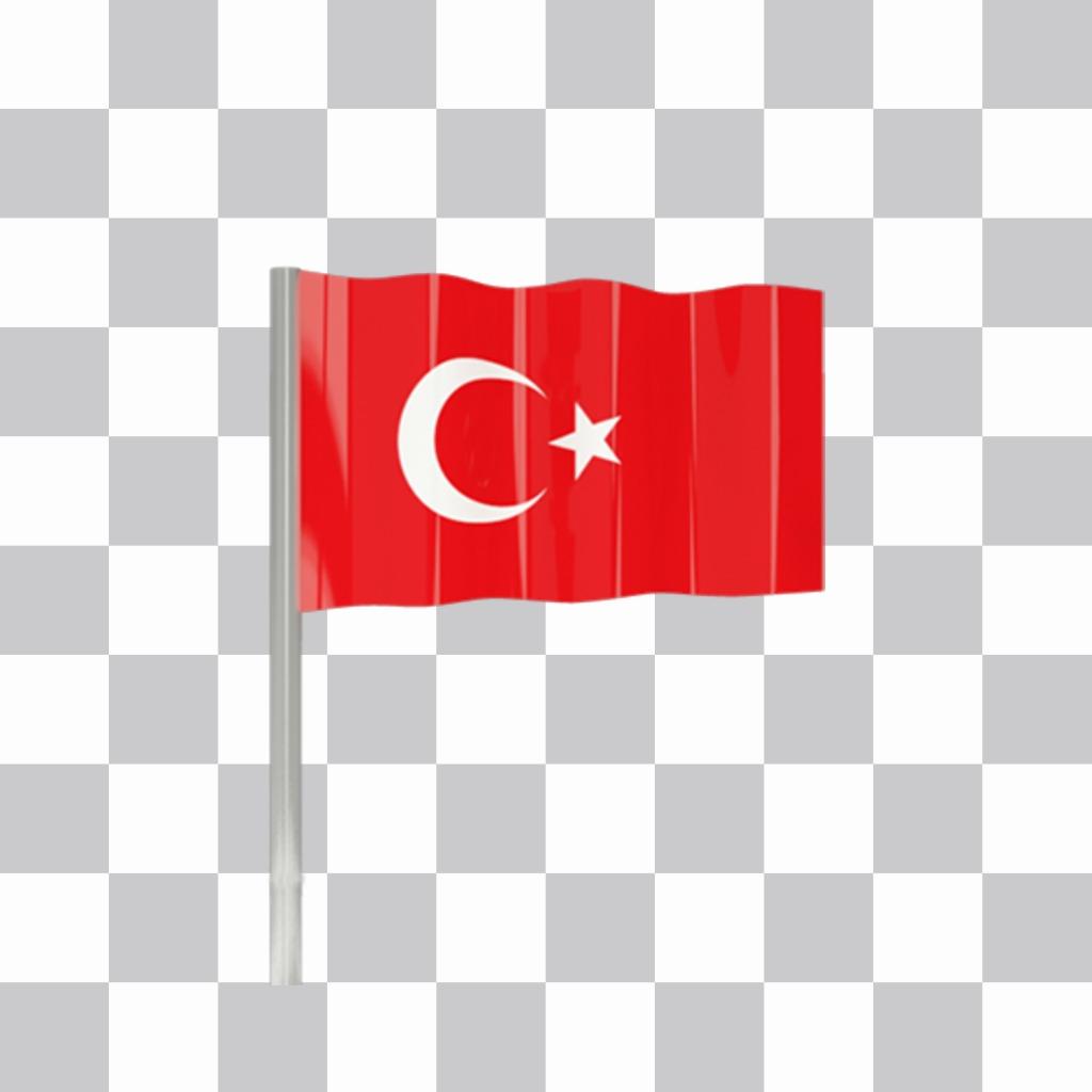 Turchia bandiera per decorare le vostre foto per