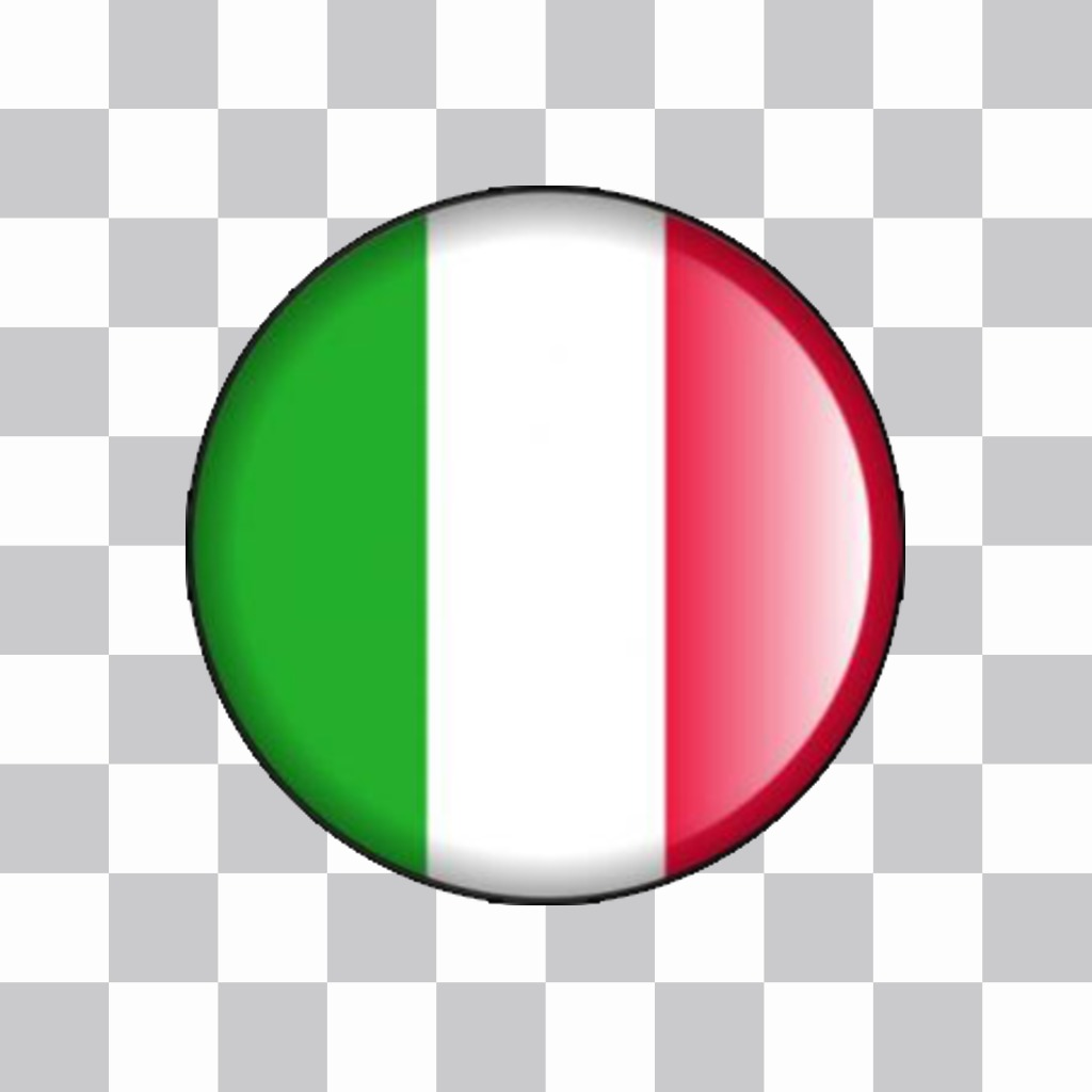 Pulsante di bandiera dItalia con cui è possibile decorare le tue immagini online