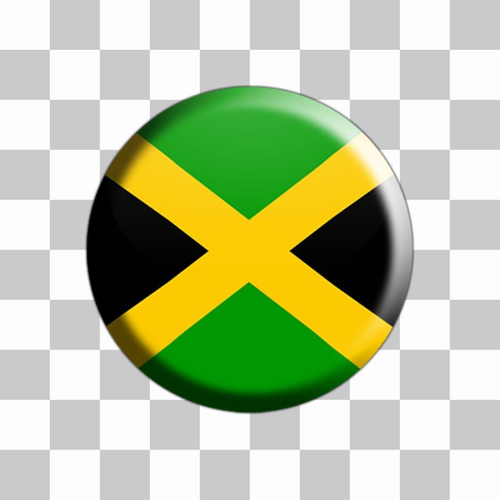 Adesivo della Giamaica segnala come un pulsante per decorare le immagini