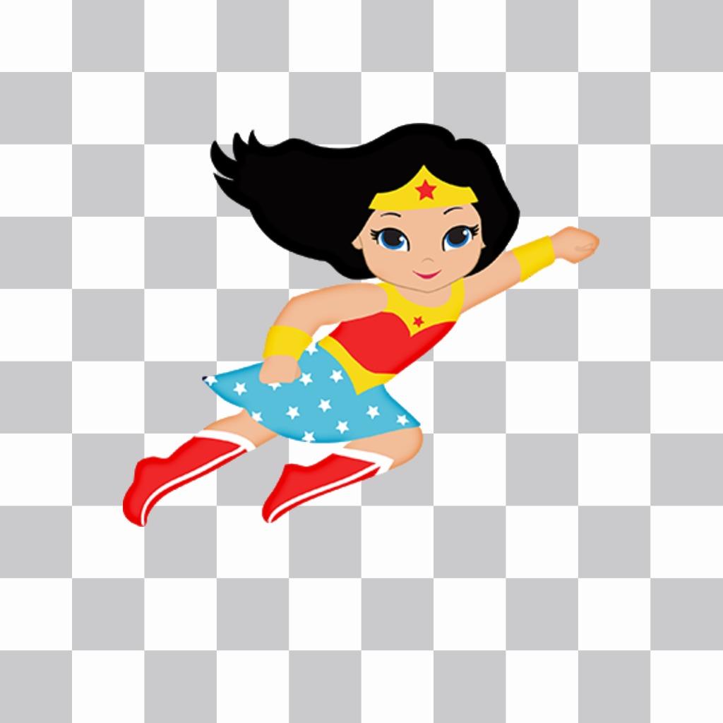 Wonder woman come un adesivo di aggiungere le foto gratis