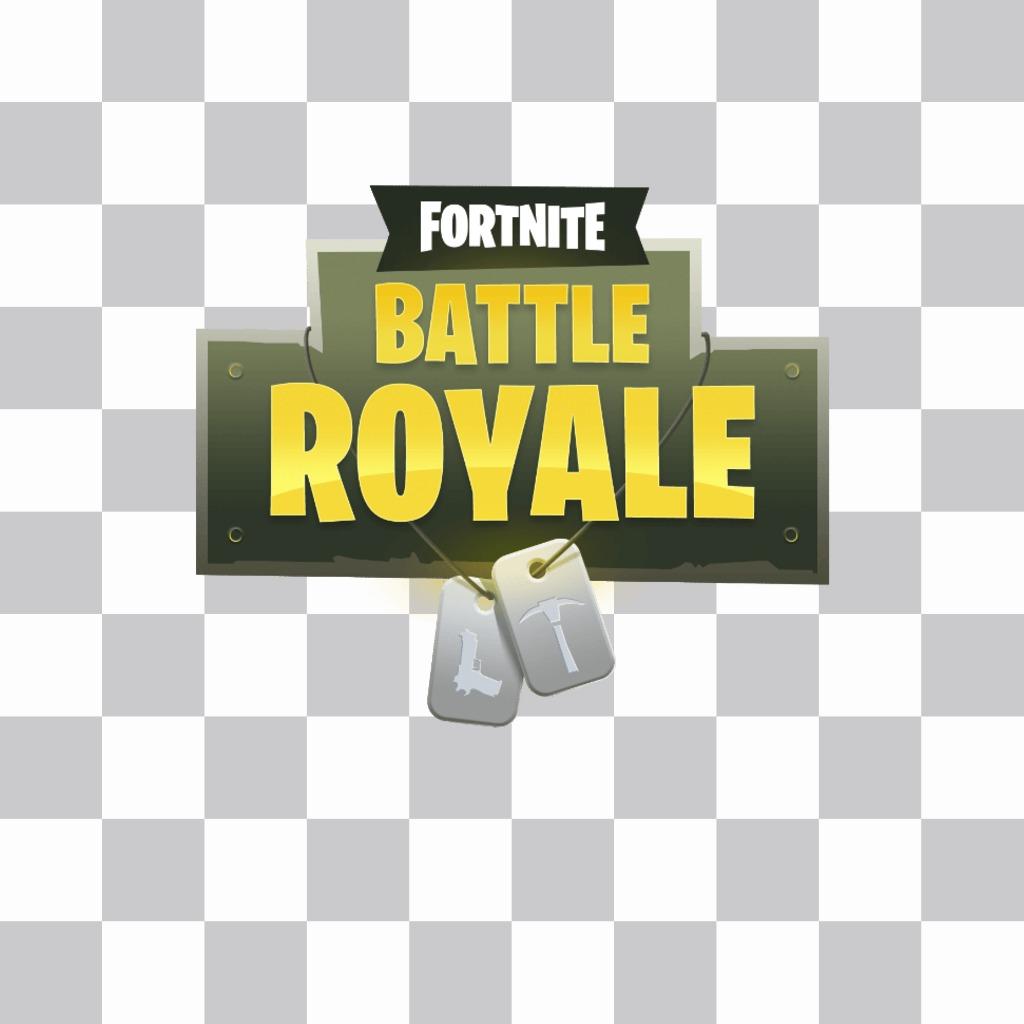 Fortnite logo del gioco da inserire nella tua foto
