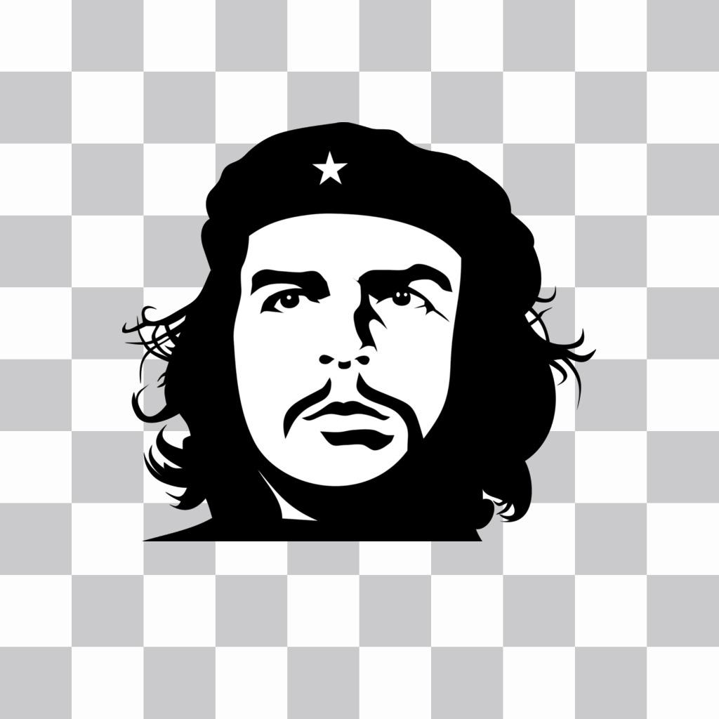 Effetto di Che Guevaras faccia in bianco e nero